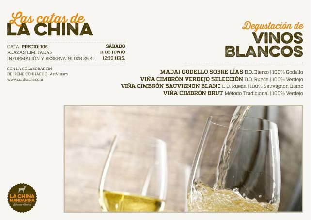CATA DE BLANCO LA CHINA MANDARINA 11 JUNIO 2016